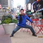 在纽约泰晤士广场