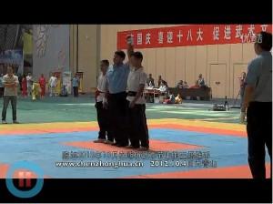 陈旭在2012.10.4日在首届潍坊国际武术节上的三场推手