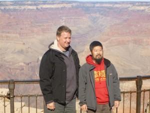 陈中华老师在美国大峡谷。
