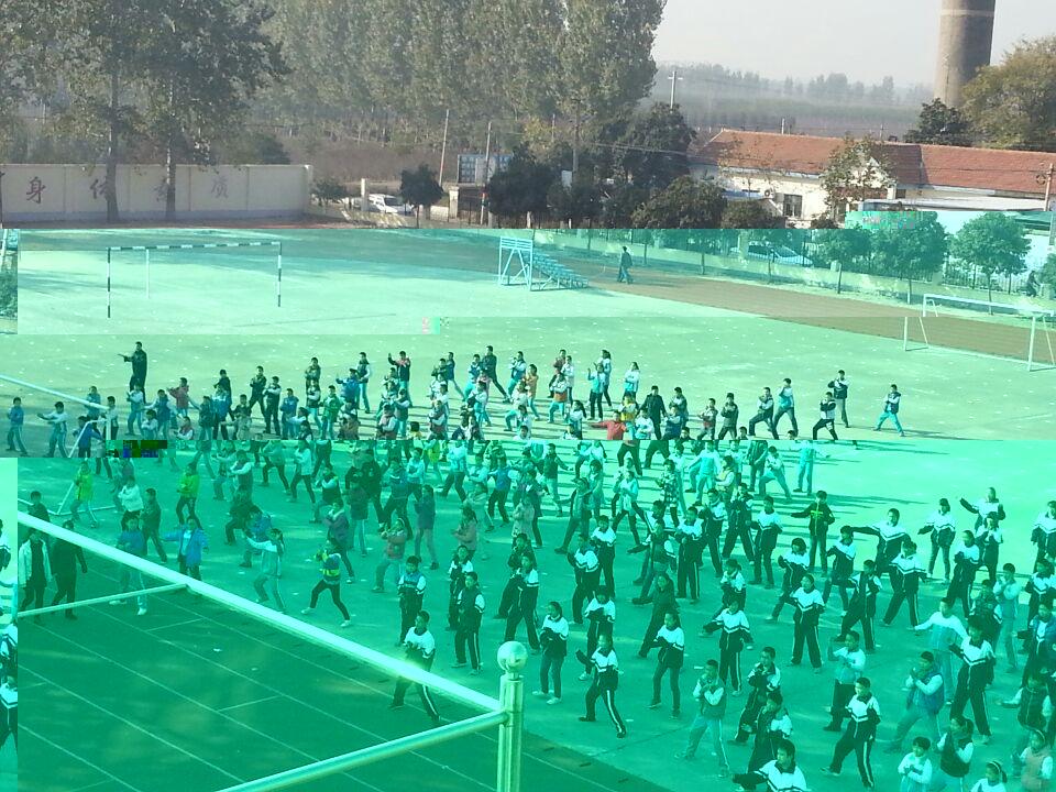 实用拳法走进山东肥城白庄矿学校。