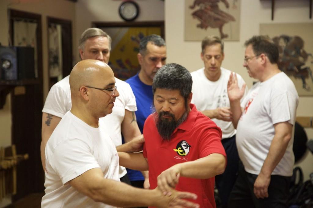 陈中华老师在纽约授课。