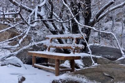 2016年冬天大青山的雪
