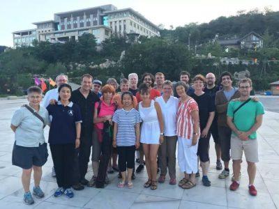 外国学员在2016年在大青山