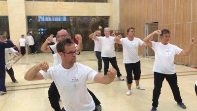 马希奇国际太极拳修炼团在大青山