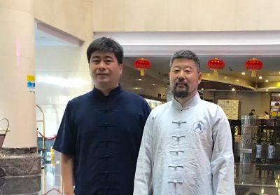 陈中华老师与和式太极拳名家和有禄老师合影
