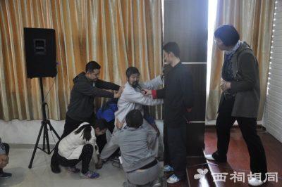 陈中华老师演示推墙功