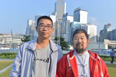 高剑雄2016年12月和陈中华老师在香港