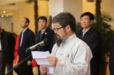 陈中华在山东省中华文化传承基地揭牌仪式上