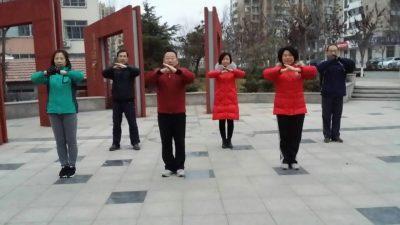 五莲练拳集体照
